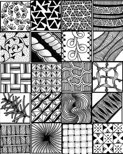 easy zentangle patterns printable go craft something