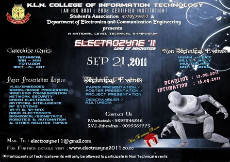 poster presentation templates for ece electrozyne 11 department of electronics and communication
