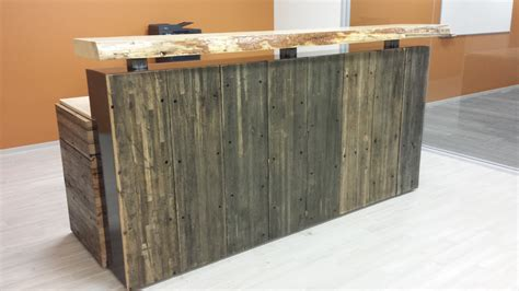 image gallery industrial reception desk