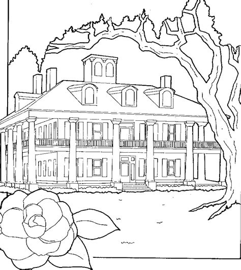 coloring pages big house huge house coloring pages