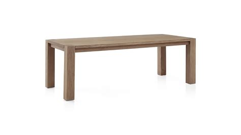 big sur dining table big sur smoke 65 quot dining table crate and barrel