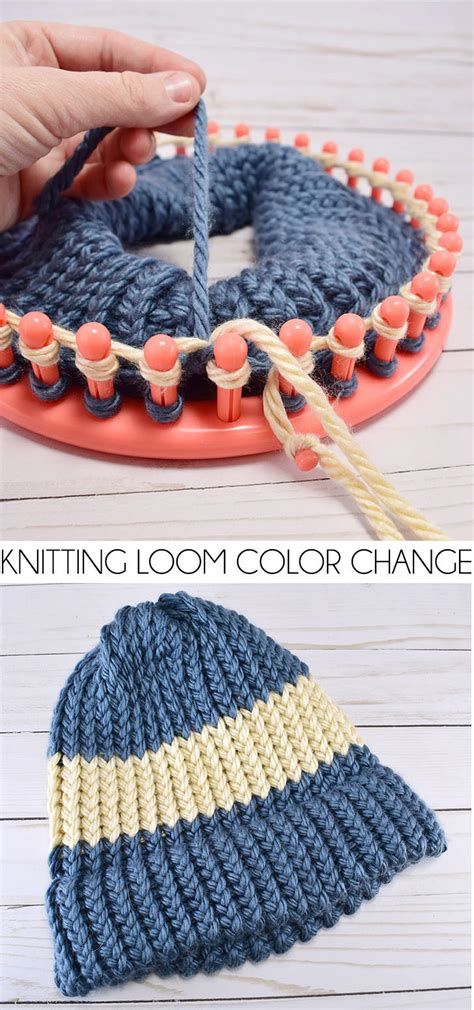 how to change colors when knitting in the how to change colors on a knitting loom a