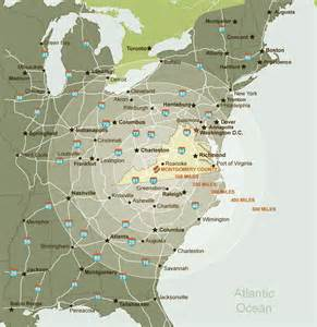 map of mid east coast usa montgomery county economic development location