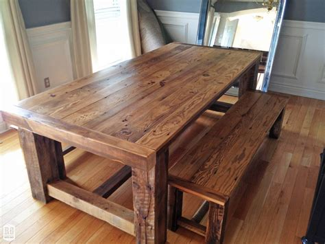 rustic dining room table plans