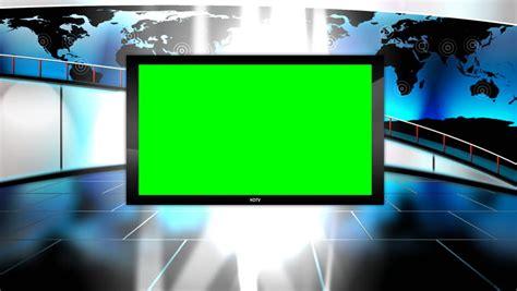 news tv studio set green screen background loop