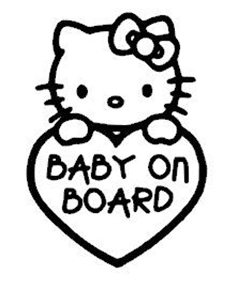 hello kitty baby on board decal on etsy 4 00 all for
