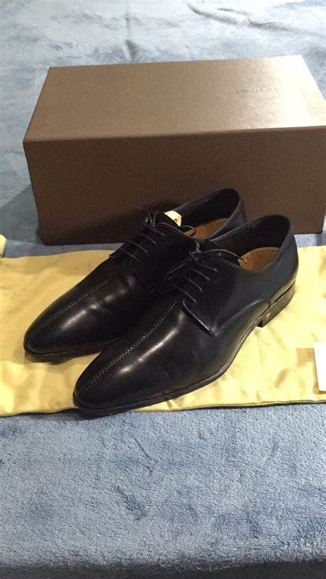 Dress Shoes V Sneakers by Louis Vuitton S Dress Shoes Size 7 Black Suit Leather Ebay