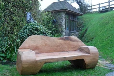 chainsaw bench logs chainsaw carved bench woodworking carving rustic