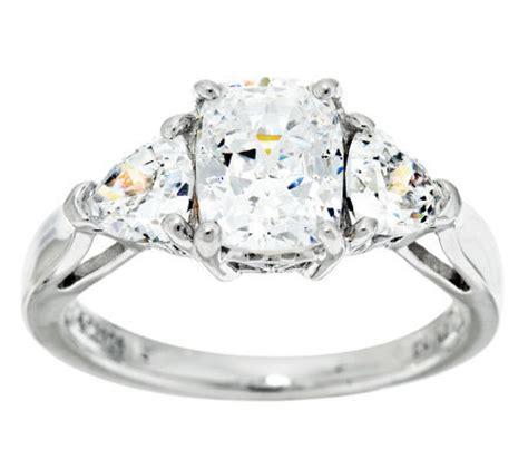 epiphany diamonique 100 facet emerald cut 3 ring