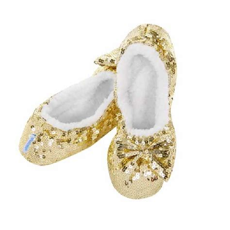 snoozies slippers snoozies ballerina bling fleece lined slippers ebay