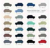Austin Mini Classic  60s Original Car Colours Posters