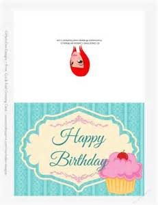 pink cupcake 5x7 print cut and fold birthday greeting card cup718734 70864 craftsuprint