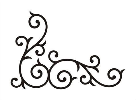 corner template designs 25 unique swirl design ideas on swirls swirl