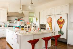 Houzz Kitchen Island Retro Modern Kitchen Modern Kitchen Los Angeles By