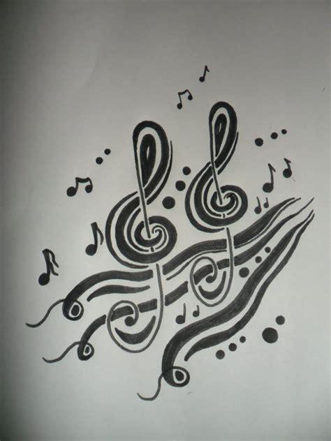 imagenes a lapiz musica tribal clave musical dibujo inspirado en una nota