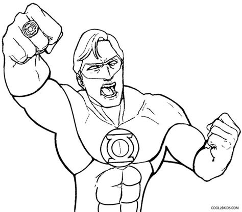 Stylish Green Lantern Coloring Page Pertaining To Color Chkids Green Lanter