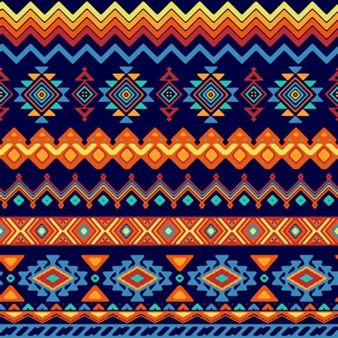 african pattern ai abstract shapes pattern in ethnic style vector free download
