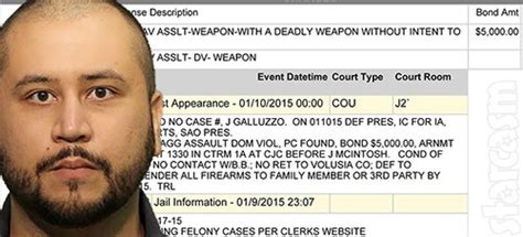 George Zimmerman Criminal Record Mug George Zimmerman Arrested For Aggravated Assault