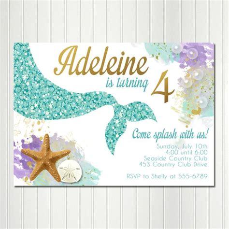free printable mermaid invitations mermaid invitation mermaid birthday the sea invitations digital mermaid invite