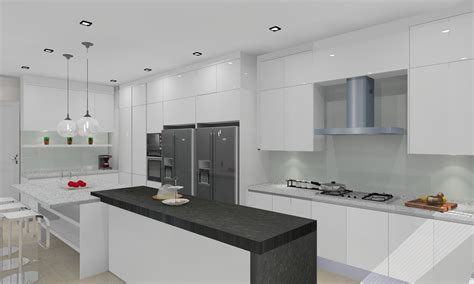 Full Height Kitchen Cabinets | meridian interior design and kitchen design in kuala