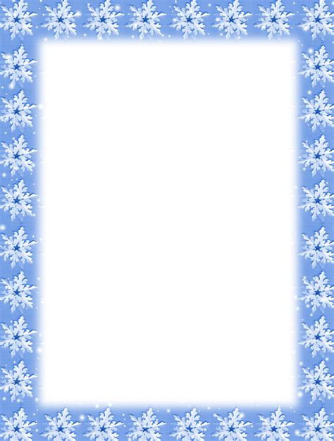 1000 Images About Borders Holidays On Pinterest Page Borders Clip Art And Stationery Snowflake Stationery Template