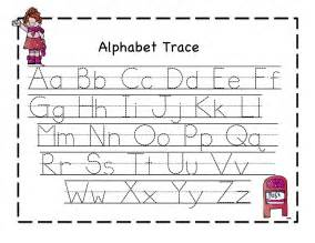Alphabet Letter Tracing Templates by Printable Letter To Trace Activity Shelter