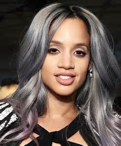 salt and pepper hair with lilac tips dascha polanco how to flaunt gray hair like a celebrity