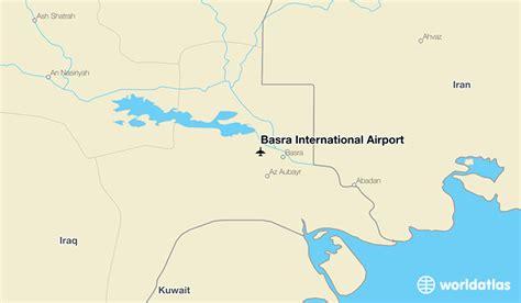 where is basra on a map basra international airport bsr worldatlas