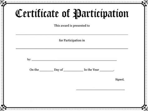 participation certificates templates 52 free printable