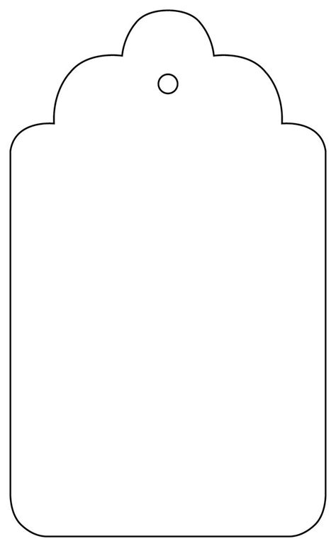 tag outline template clipart best