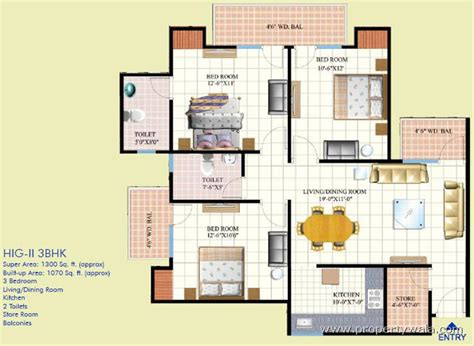 home plan design 3 bhk mahagunpuram mahurali ghaziabad apartment flat