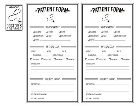 7 Best Images Of Free Printable Doctor Office Forms Free Printable Office Forms Free Doctor Doctor S Office Registration Form Template