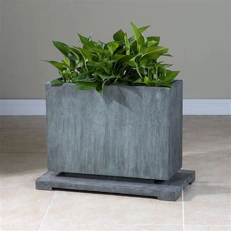 Large Concrete Planter by 32 Uniquely Beautiful Concrete Planters