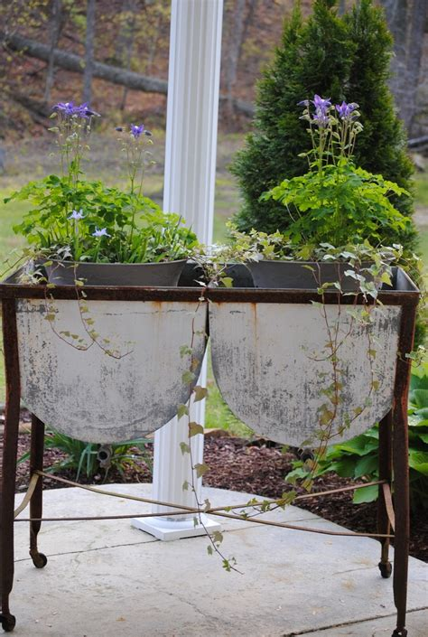 Garden Tubs And Pots 88 Best Images About Re Purposed Wash Tubs On