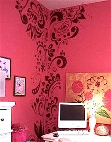 room stencils designs artistically stenciled room walls kidspace interiors