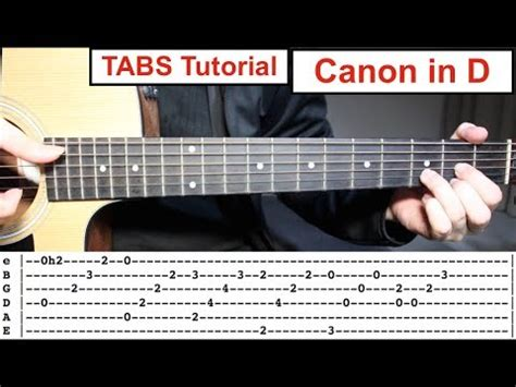 tutorial guitar canon in d search result youtube video 핑거스타일악보