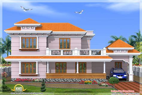 kerala model 2500 sq ft 4 bedroom home kerala home