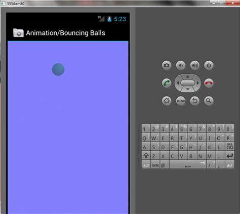 animation for layout android ball animation exle edumobile org