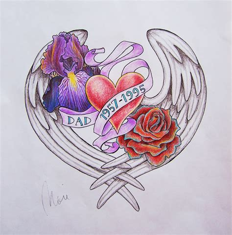 memorial heart tattoo designs memorial color by getagirl on deviantart