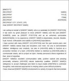 Reference Letter For Work Ethic Recommendation Letter 9 Free Documents In Word Pdf