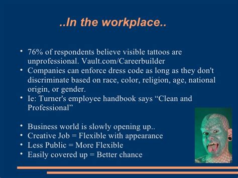 tattoos in the workplace statistics nonverbal tattoos