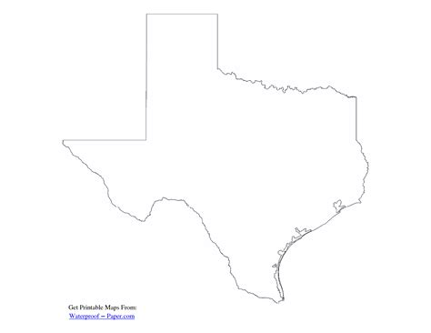 blank texas map 6 best images of texas map template printable blank texas map outline printable texas outline