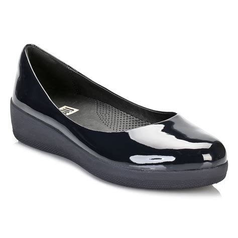 navy patent flat shoes fitflop womens navy blue patent ballerina flats pumps