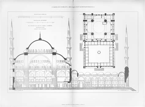 blue mosque floor plan mosque of sultan ahmed i mit libraries