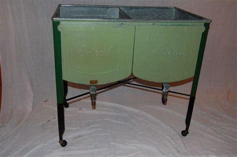 double laundry tub vintage galvanized ideal double wash tub laundry
