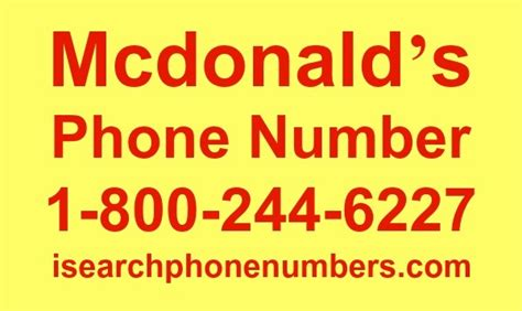 1800 Phone Number Lookup Mcdonald S Phone Number Order Delivery Corporate Contact Info