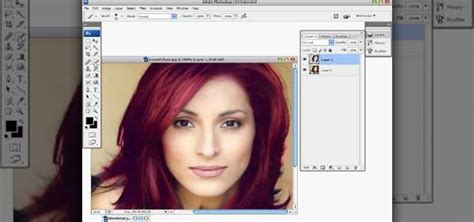 How To Change Hairstyle In Photoshop Cs5 by How To Change Hair Color In Ps Change Hair Color In