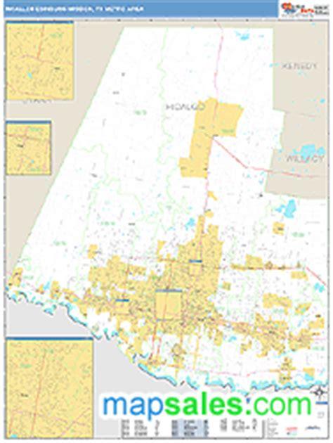 mcallen texas zip code map mcallen edinburg mission tx metro area zip code wall map basic style by marketmaps