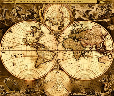 Vintage World Maps by Vintage World Maps Viewing Gallery