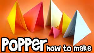 How To Make A Popper With Paper - how to make paper popper